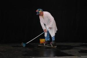 Bluey mops up