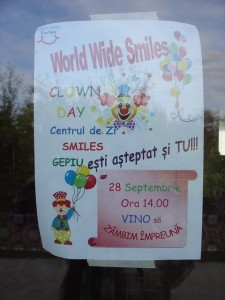 Poster for After School Club at Gepiu (run by The Smiles Foundation)