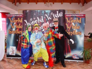 The WWS Team: Clowns Masjolie, Bluey, Conk and Ben